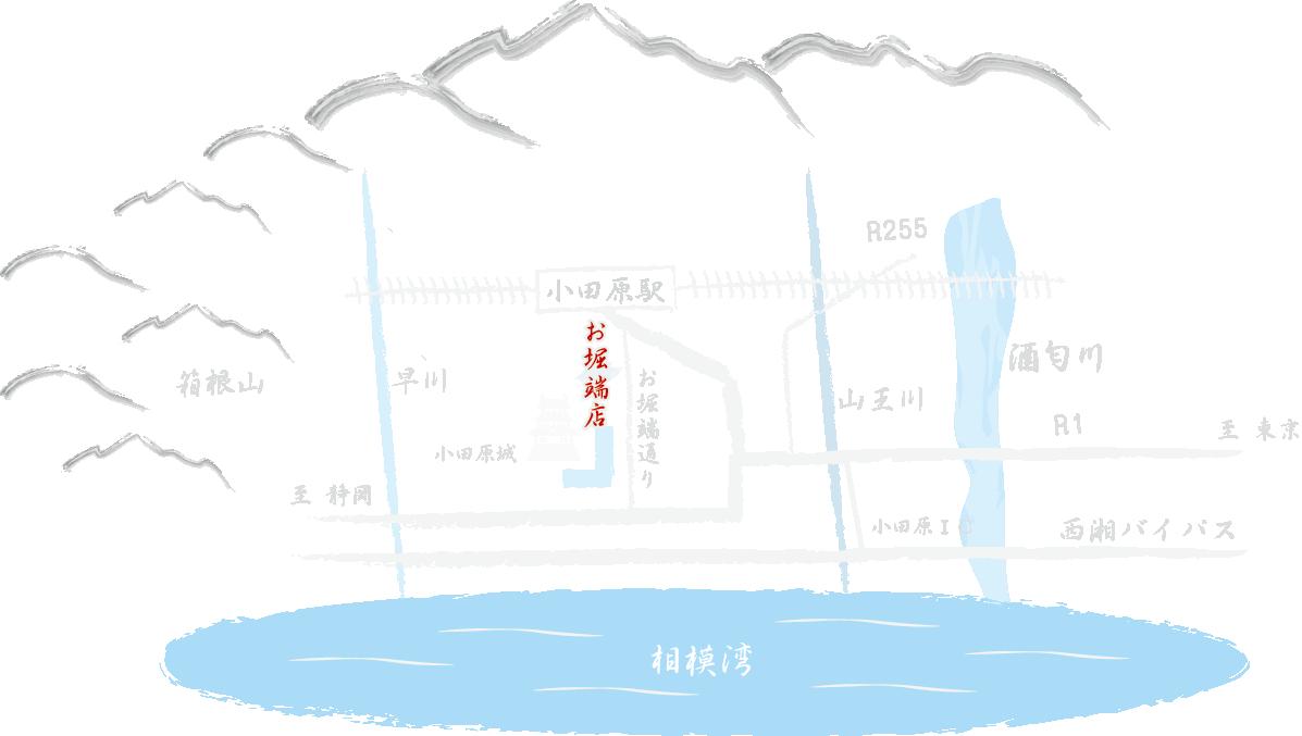 お堀端店地図